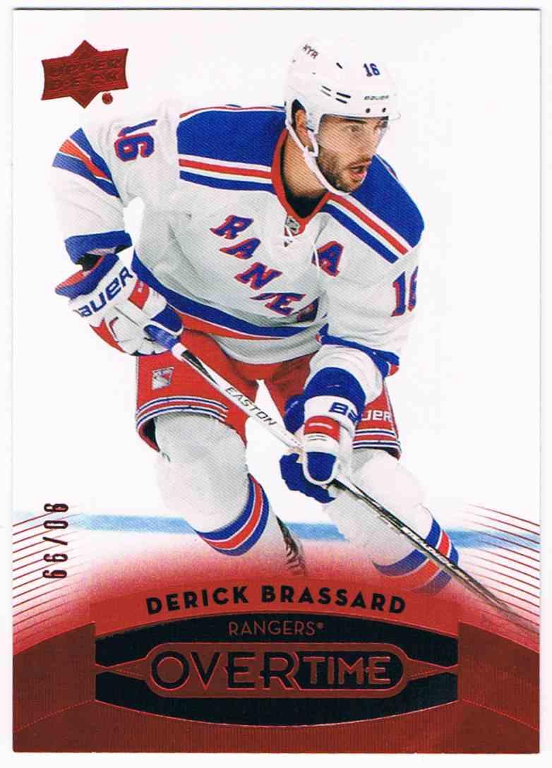 2015-16 Upper Deck Overtime Red Derick Brassard #68 card front image
