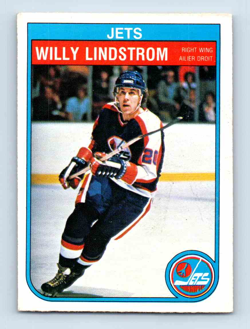 1982-83 O-Pee-Chee Willy Lindstrom #384 card front image