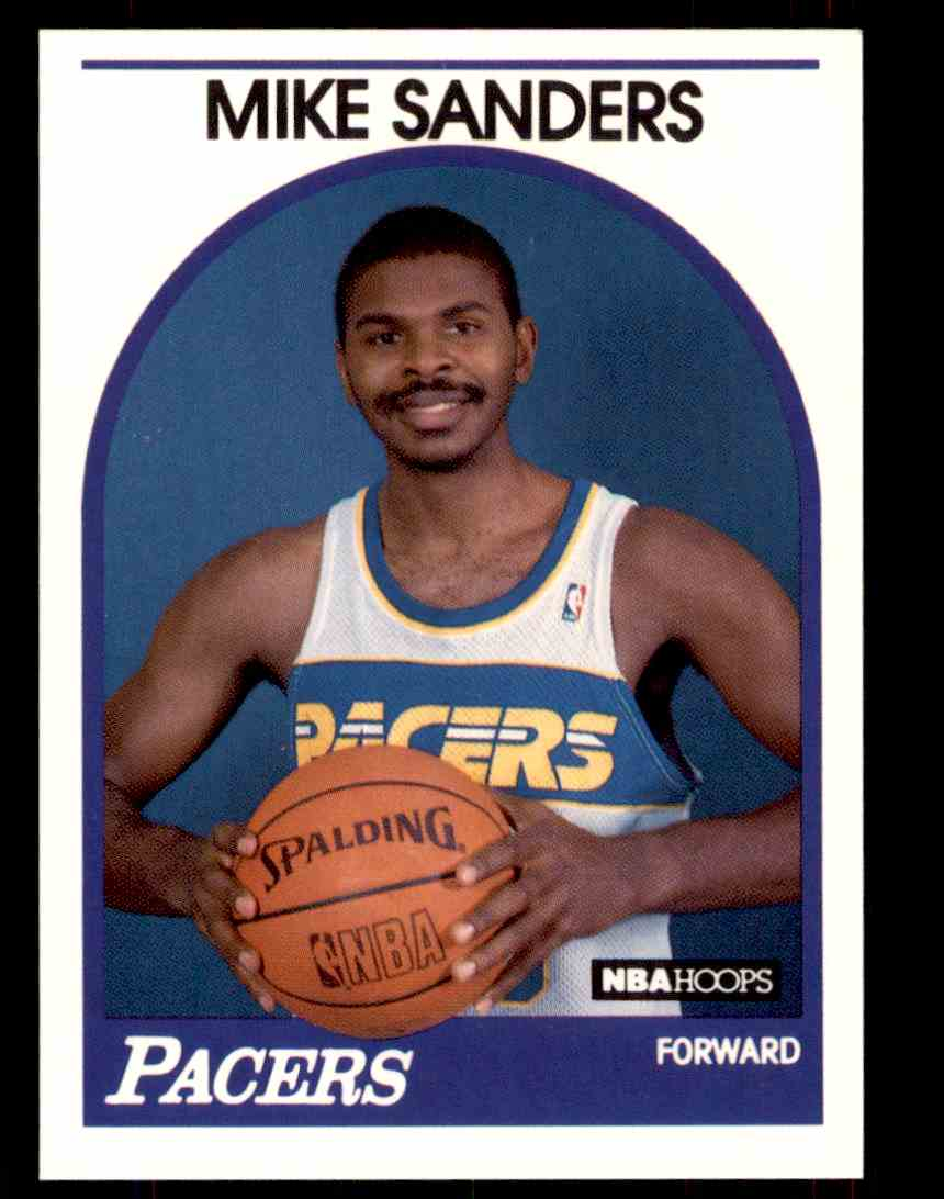 1989-90 NBA Hoops Mike Sanders #340 card front image