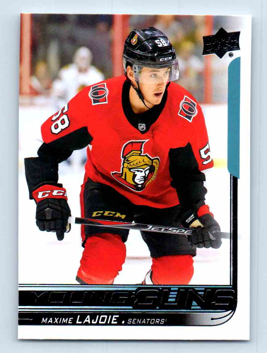 2018-19 Upper Deck Young Guns Maxime Lajoie #223 card front image