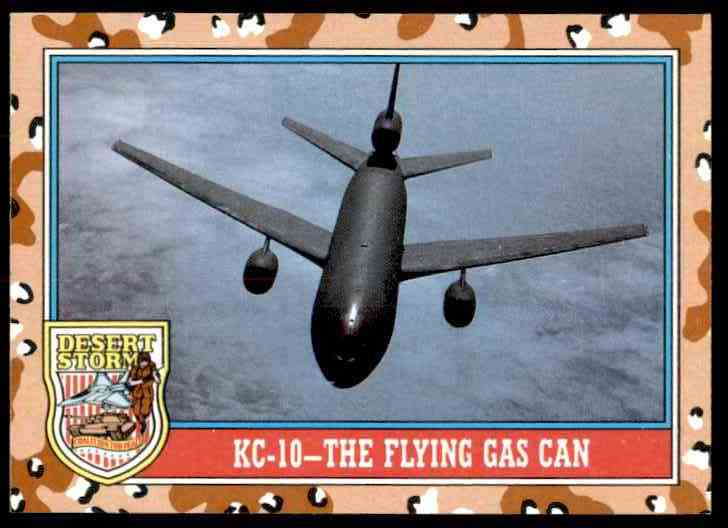 1991 Desert Storm Topps Kc-10 - The Flying Gas Can #138 card front image
