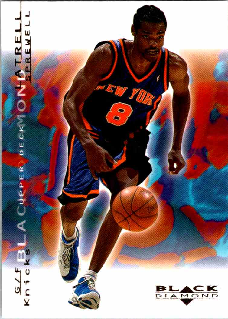 2000-01 Upper Deck Black Diamond Latrell Sprewell #54 card front image