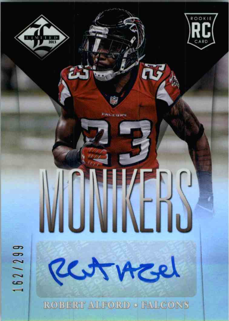 2013 Panini Limited Monikers Robert Alford #195 card front image