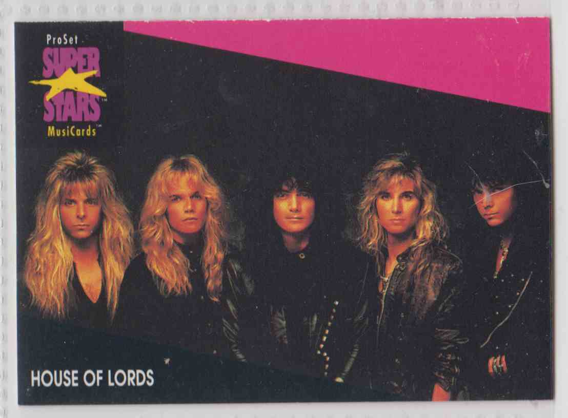 1991 Pro Set SuperStars MusiCards House Of Lords #185 card front image