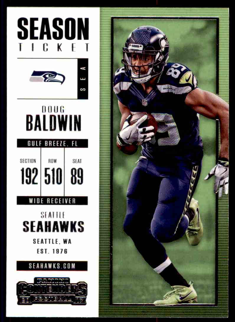 2017 Panini Contenders Doug Baldwin #61 card front image