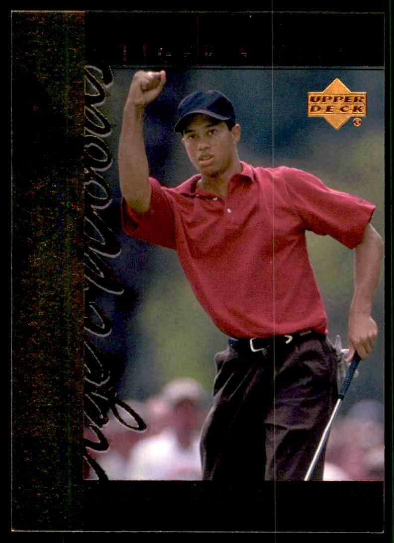 2001 Upper Deck Tiger's Tales Tiger Woods #TT11 card front image