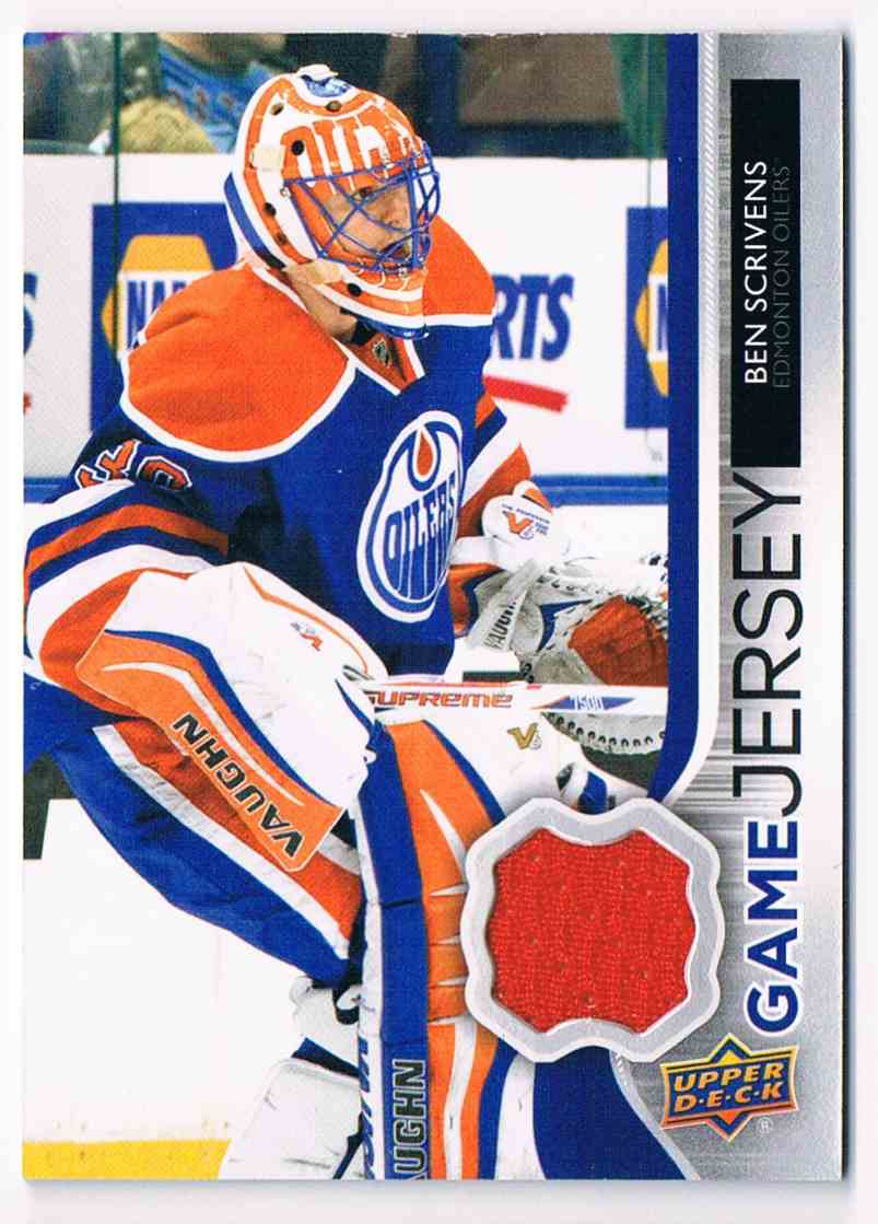 2014-15 Upper Deck Series One Ben Scrivens #GJ-BS card front image