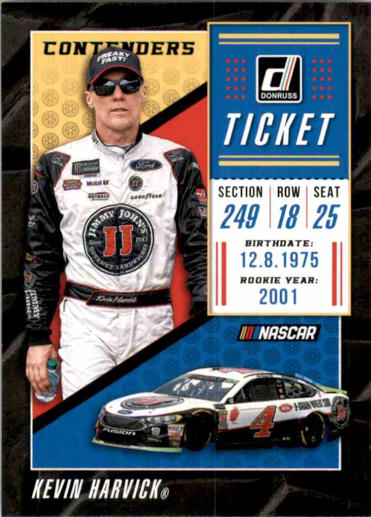 2019 Donruss Contenders Kevin Harvick #C3 card front image