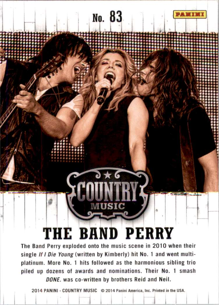 2015 Country Music Retail The Band Perry #83 card back image