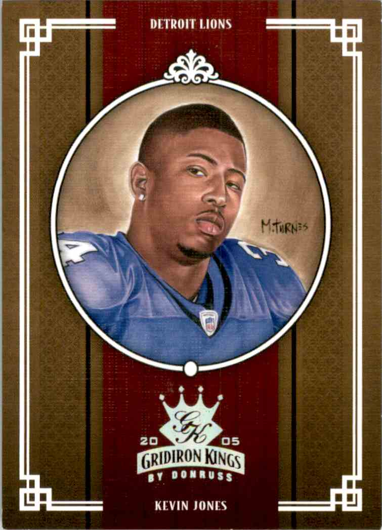 2005 Throwback Threads Gridiron Kings Silver Kevin Jones #GK16 card front image