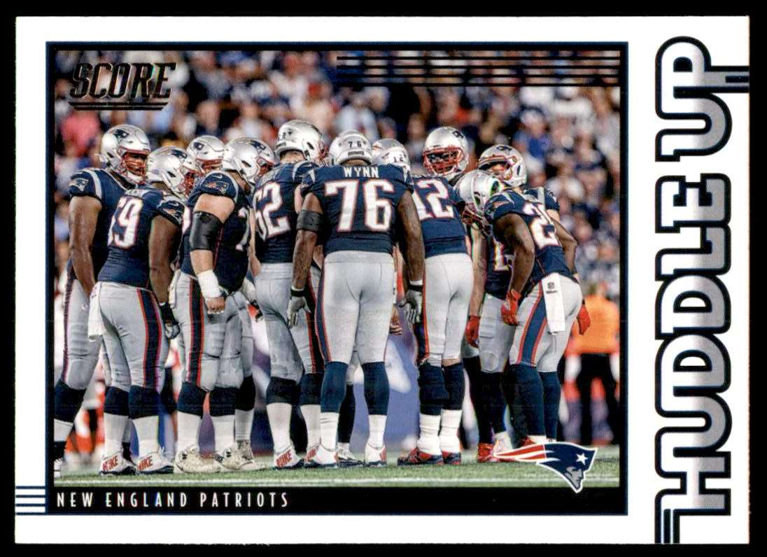 2020 Score Huddle Up New England Patriots #HDLNE card front image