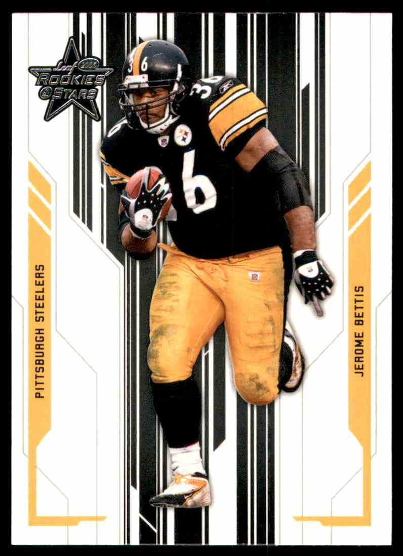 2005 Leaf Rookies And Stars Jerome Bettis #78 card front image