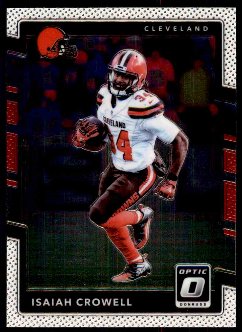 2017 Panini Donruss Optic Isaiah Crowell #12 card front image