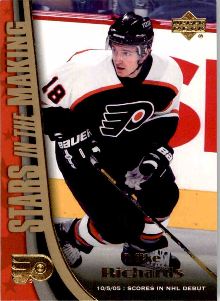 2005-06 Upper Deck Stars In The Making Mike Richards #SM12 card front image