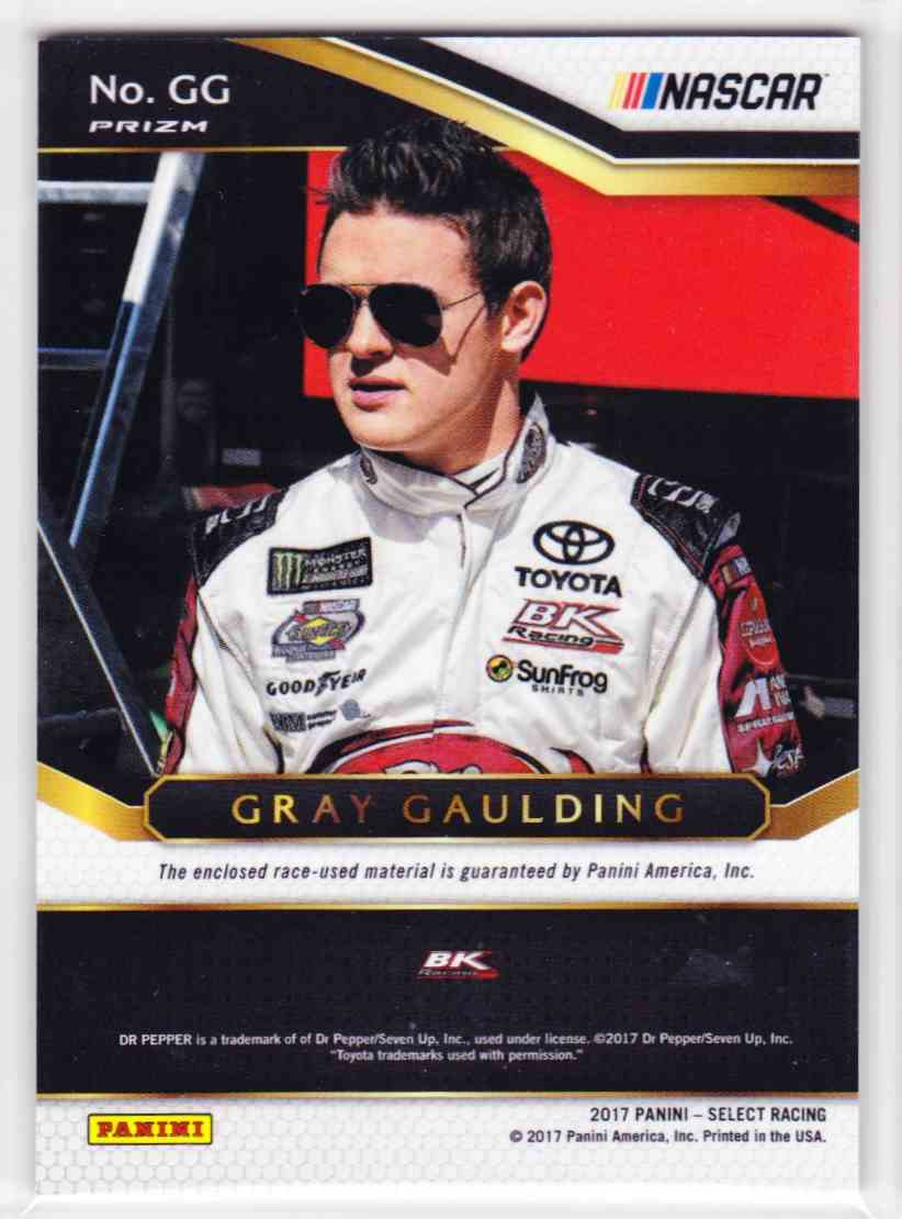 2017 Select Select Swatches Gray Gaulding #GG card back image