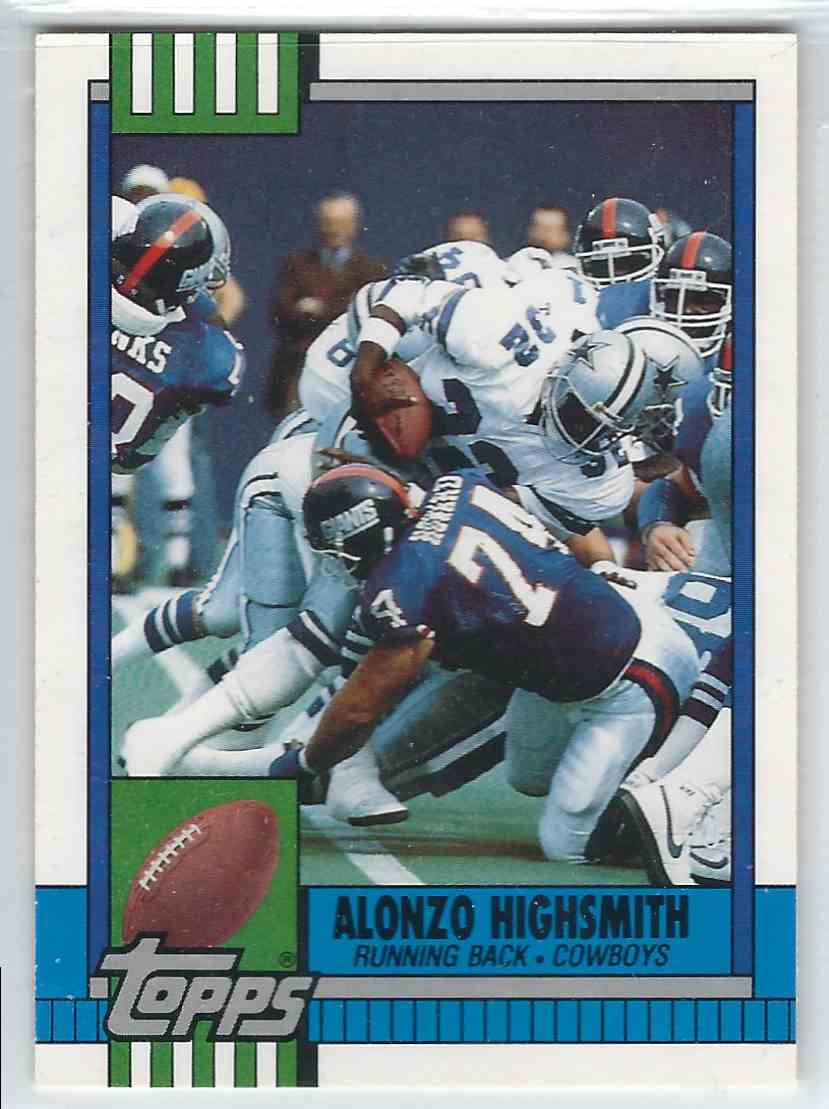 1990 Topps Traded Alonzo Highsmith #7T card front image