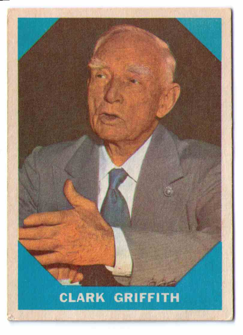 1960 Fleer Baseball Greats  Card Clark Griffith #15 card front image