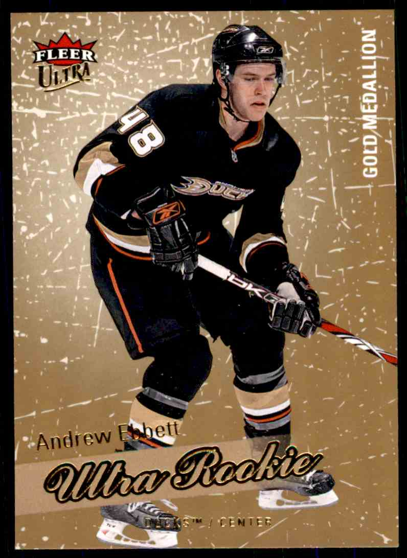 2008-09 Ultra Gold Medallion Rookie Andrew Ebbett #224 card front image
