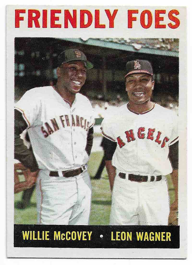 1964 Topps Willie McCovey/Leon Wagner #41 card front image
