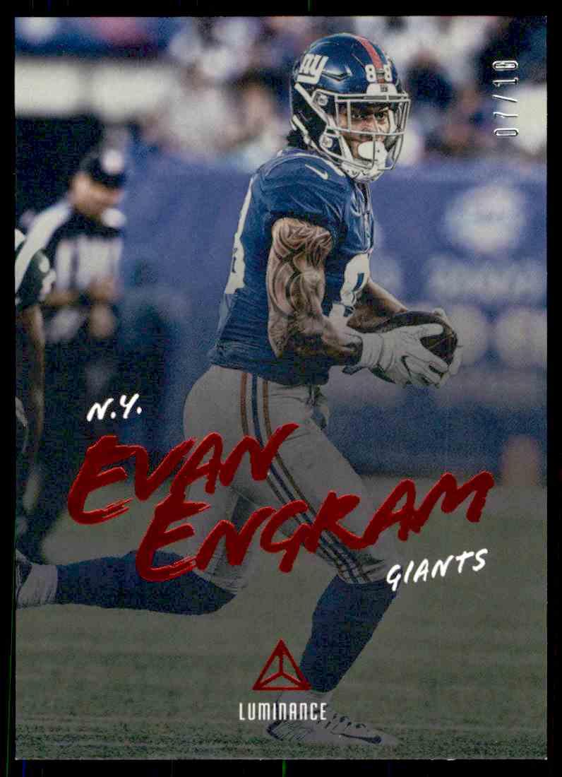 2018 Luminance Red Evan Engram card front image