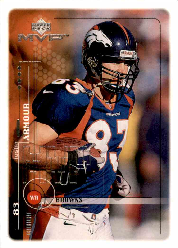 1999 Upper Deck MVP Justin Armour #47 card front image