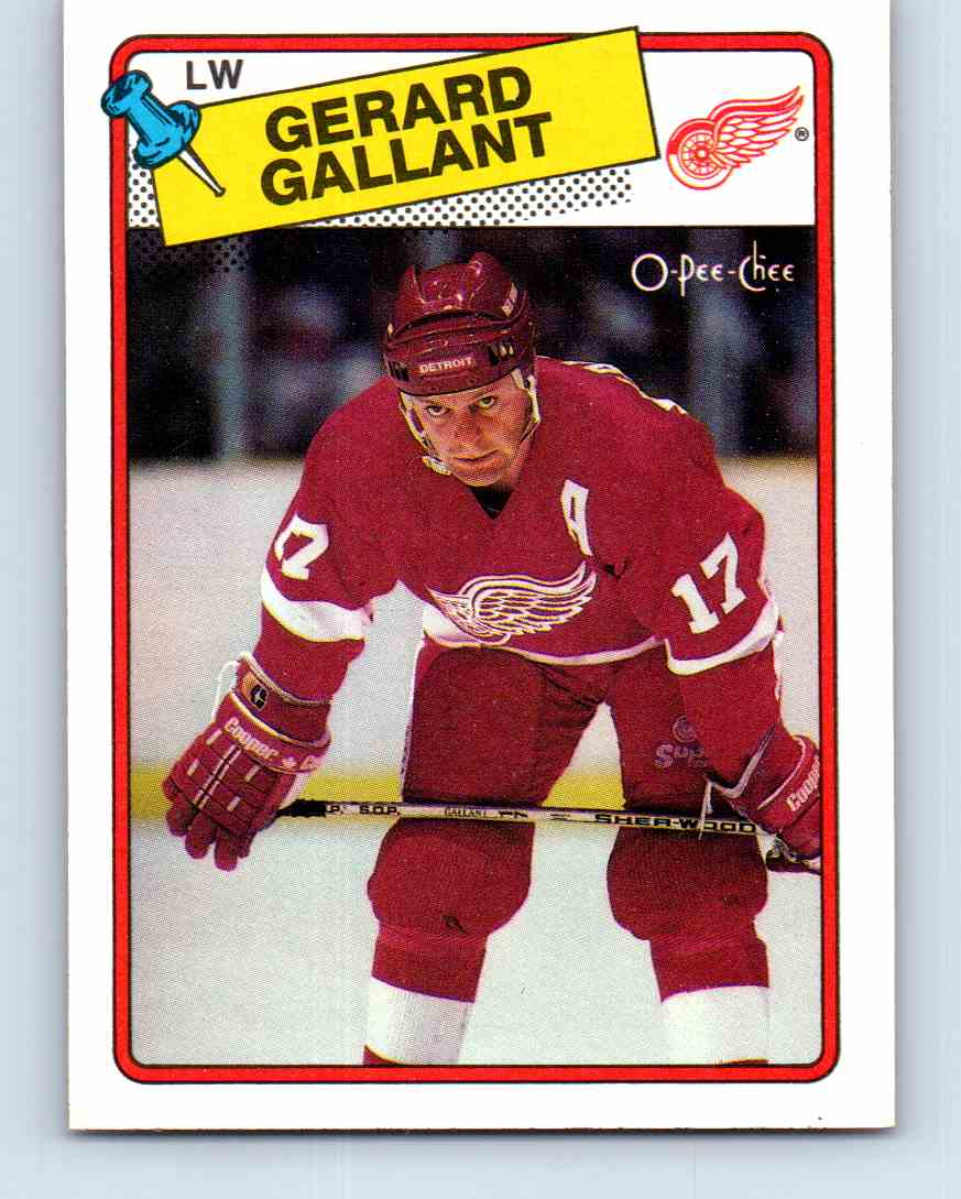 1988-89 O-Pee-Chee Gerard Gallant #12 card front image