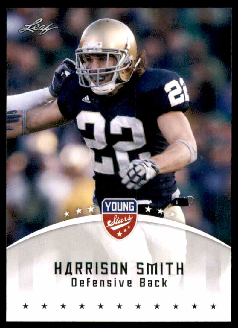 2012 Leaf Young Stars Draft Harrison Smith #40 card front image
