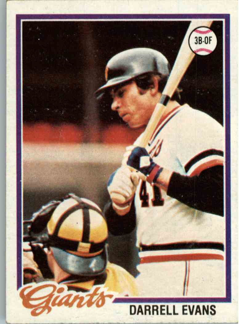 1978 Topps Darrell Evans #215 card front image