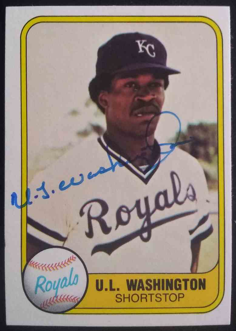 1981 Fleer U.L. Washington #34 card front image