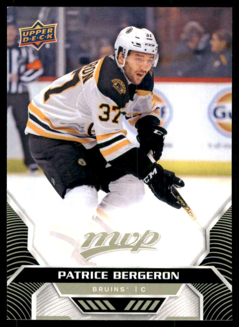 2020-21 Upper Deck MVP Patrice Bergeron #145 card front image