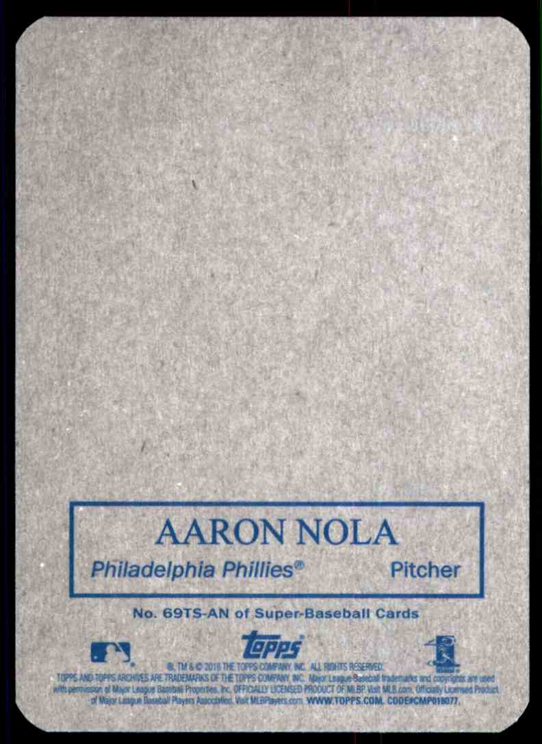 2016 Topps Archives '69 Topps Super Aaron Nola #69TS-AN card back image