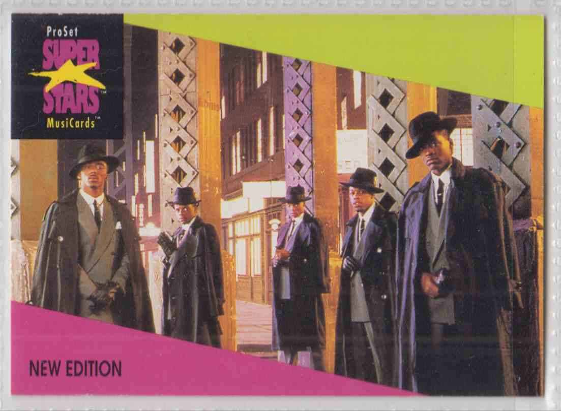 1991 Pro Set SuperStars MusiCards New Edition #85 card front image