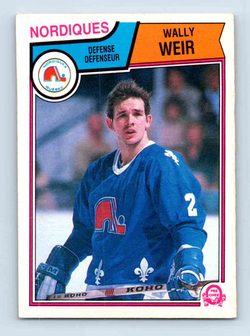 1983-84 O-Pee-Chee Wally Weir #306 card front image