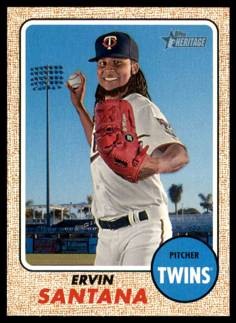 2017 Topps Heritage Ervin Santana #337 card front image