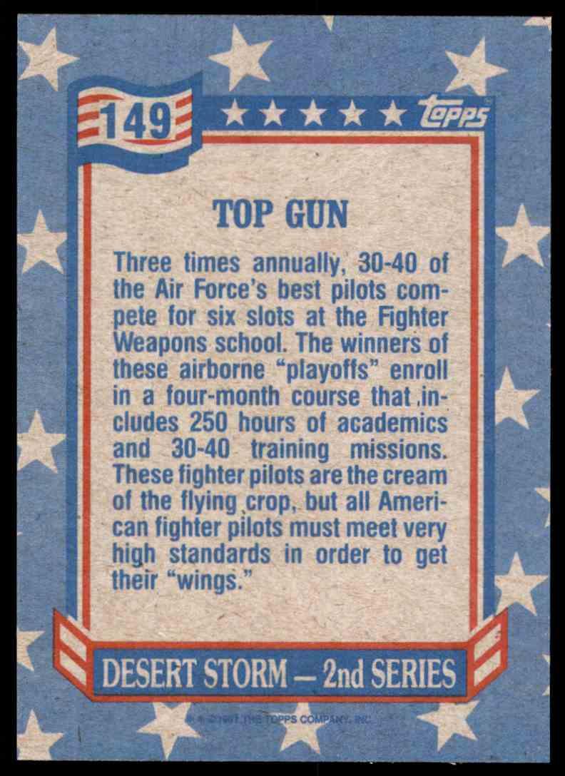 1991 Desert Storm Topps Top Gun #149 card back image