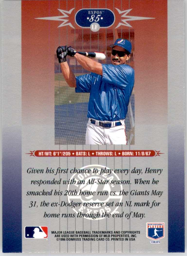 1996 Leaf Limited Henry Rodriguez #85 card back image