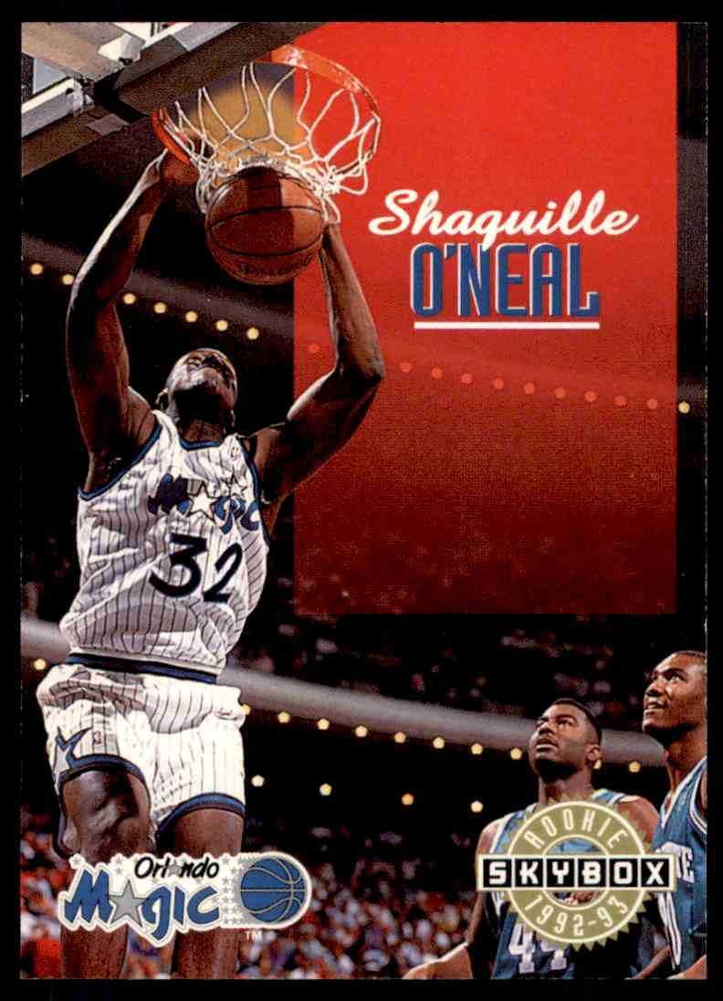 1992 93 Skybox Rookie LSU Shaquille Oneal 383 Card Front Image