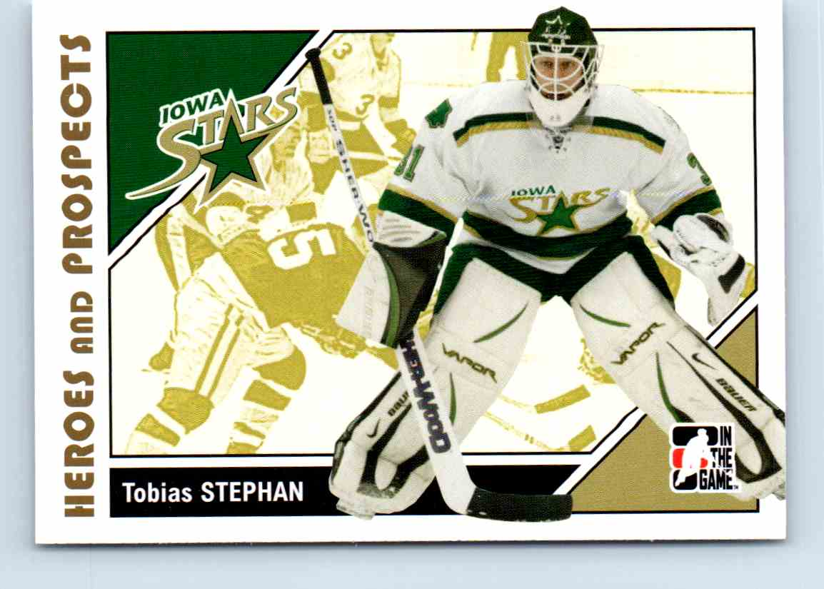 2007-08 ITG Heroes And Prospects Tobias Stephan #39 card front image