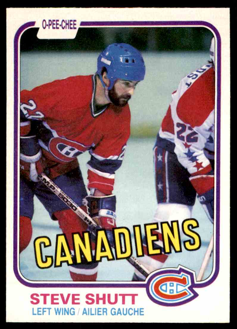 1981-82 O-Pee-Chee * Steve Shutt #180 card front image