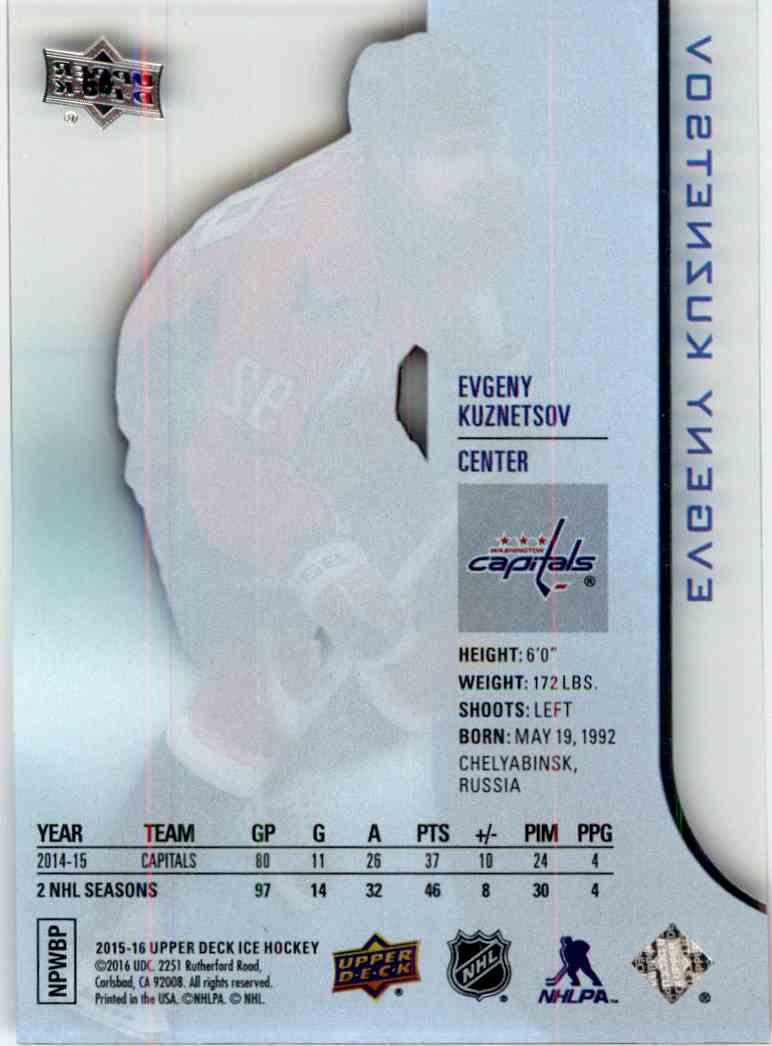 2015-16 Upper Deck Ice Evgeny Kuznetsov #66 card back image