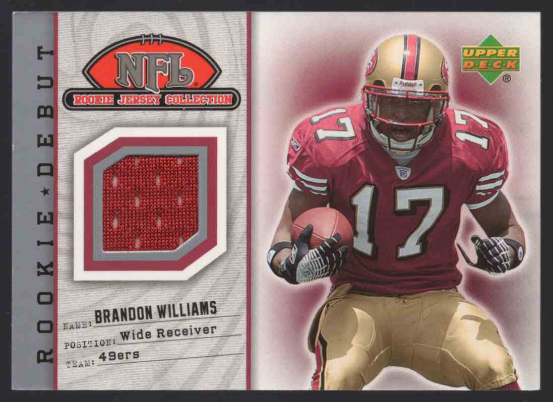 2006 Upper Deck Rookie Debut Future Star Materials Silver Brandon Williams #FSMBW card front image