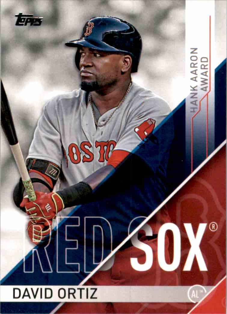 2017 Topps MLB Awards David Ortiz #HA1 card front image