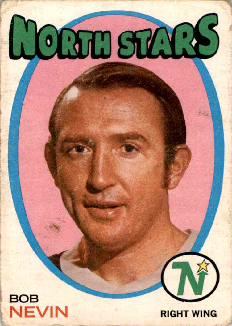 1971-72 O-Pee-Chee Bob Nevin #44 card front image