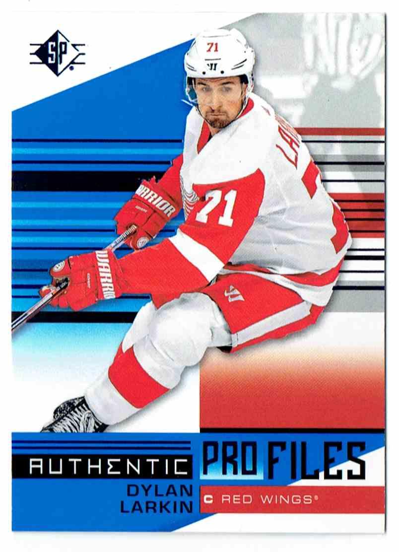 2019-20 SP Profiles Authentic Dylan Larkin #AP-DL card front image