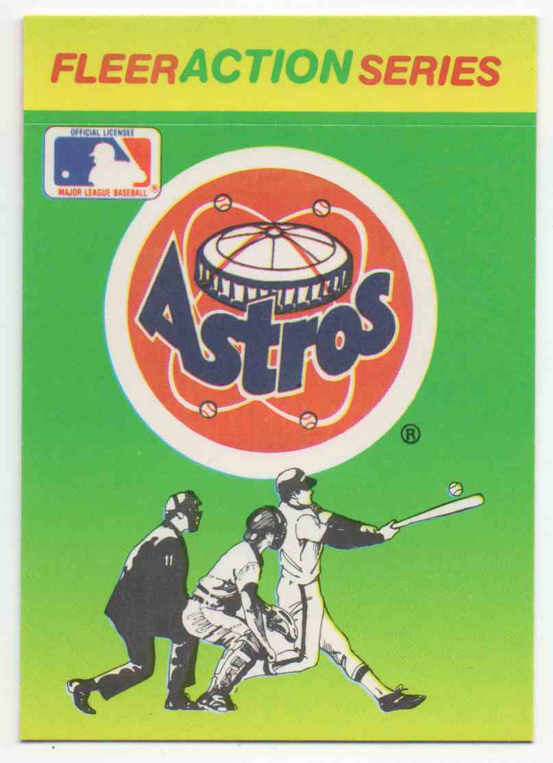 1990 Fleer Astros Sticker card front image