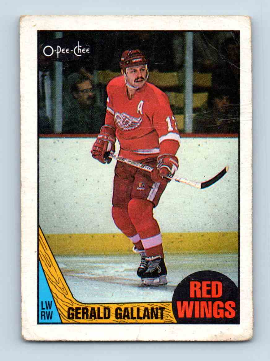 1987-88 O-Pee-Chee Gerald Gallant #67 card front image