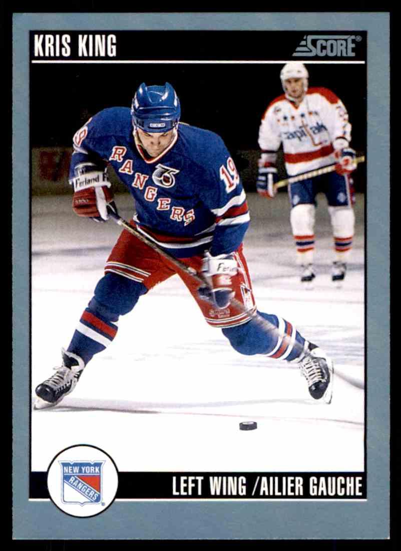 1992-93 Score Canadian Kris King #181 card front image
