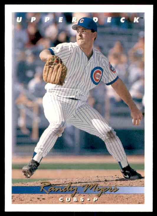 1993 Upper Deck Randy Myers #667 card front image