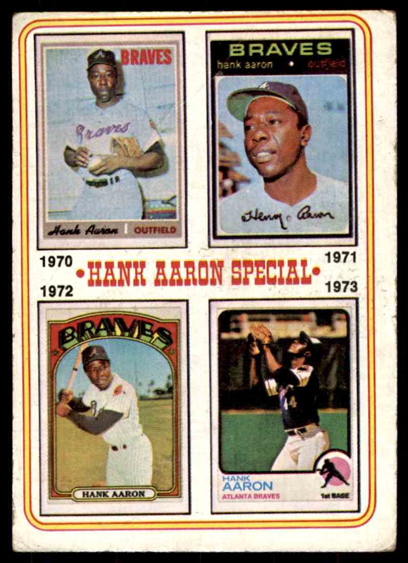 1974 Topps ! Hak Aaron #6 card front image