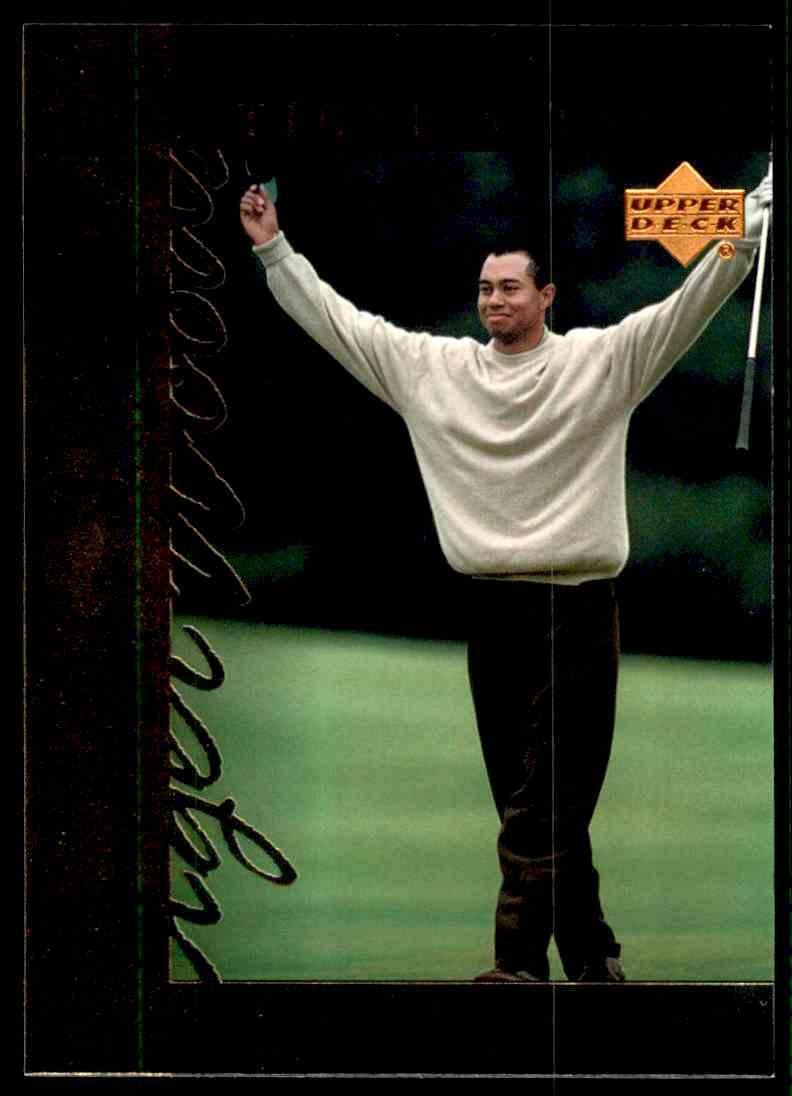 2001 Upper Deck Tiger's Tales Tiger Woods #TT19 card front image